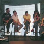 Con Manuel Vilas, Vicente Muñoz, David González y Oscar Aibar