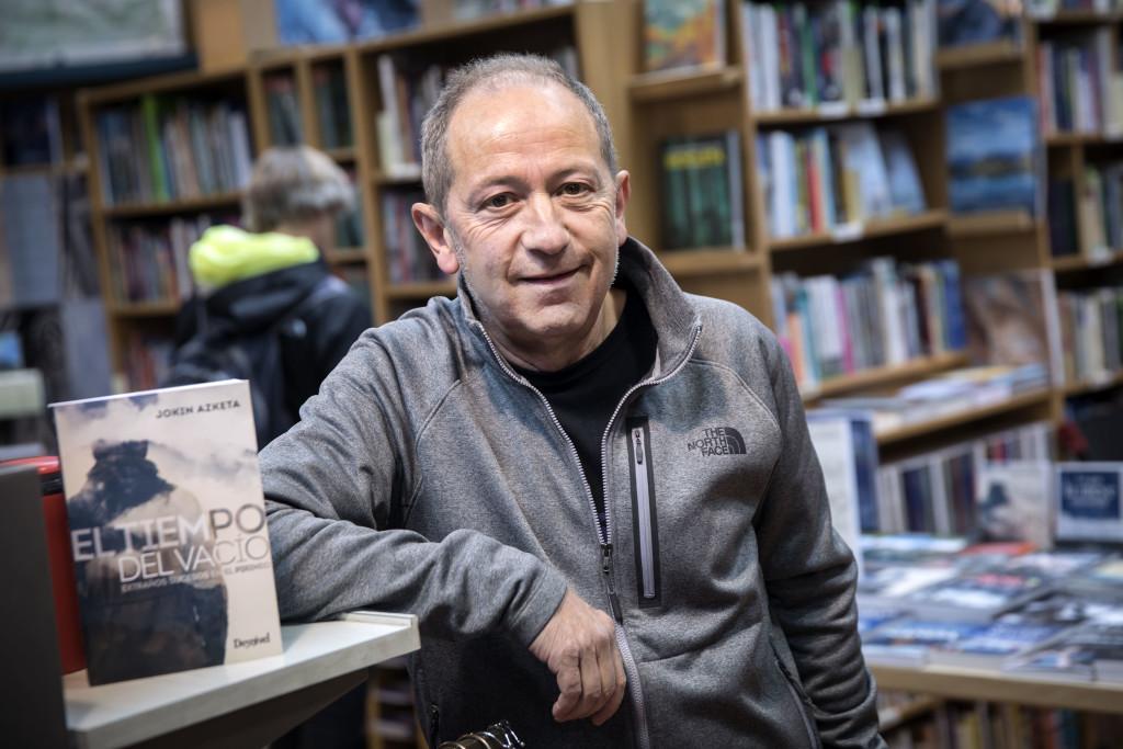 """A: Jesús Caso F: 03-04-2019 P: Jokin Azqueta L: Pamplona T: Entrevista. Libro: """"El tiempo del vacío""""."""