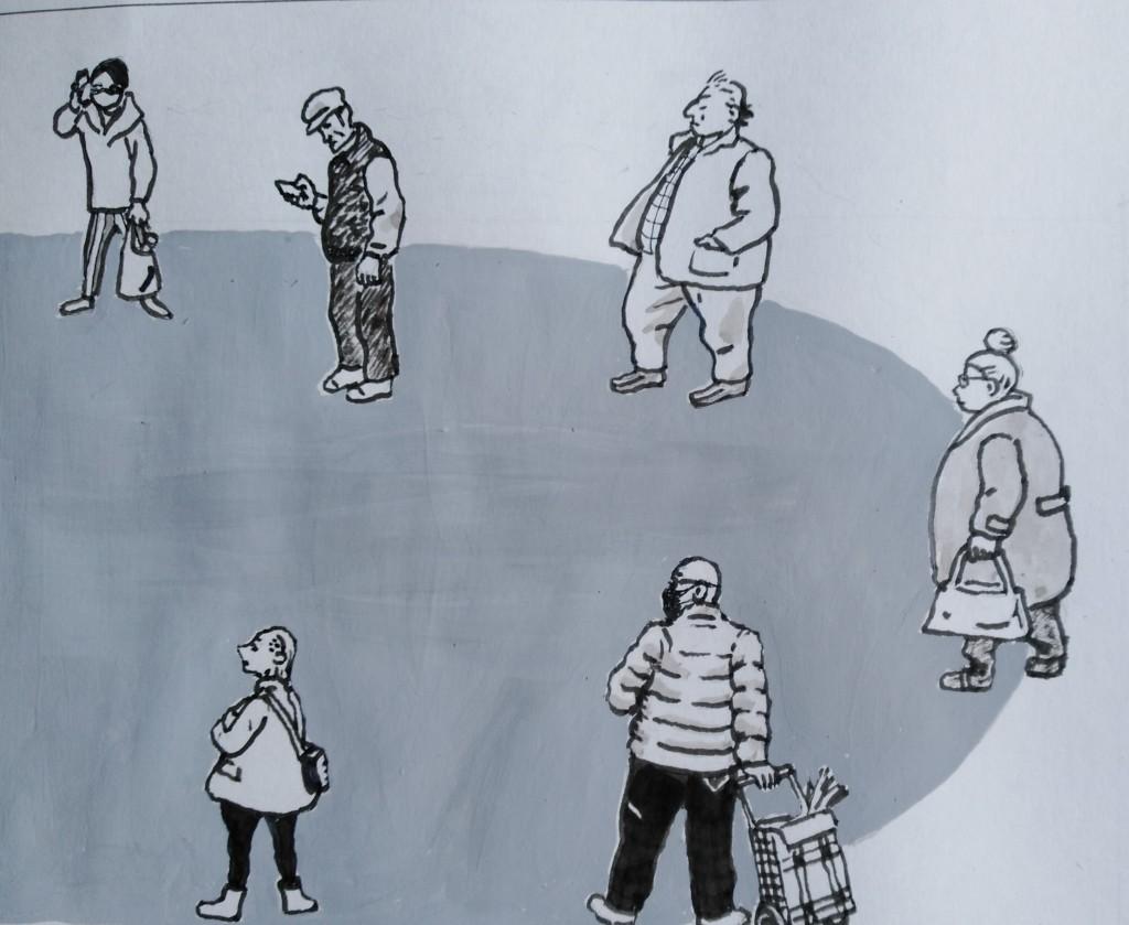 Ilustración Pedro Osés (para el cuento CUANDO TODO ESTO ACABE)